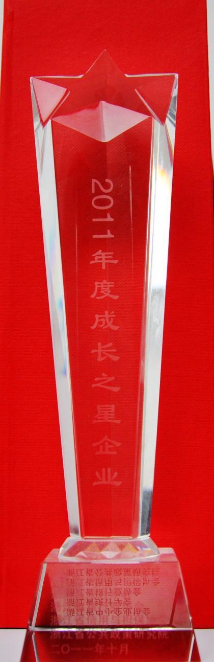 浙江省2011年度成长之星企业
