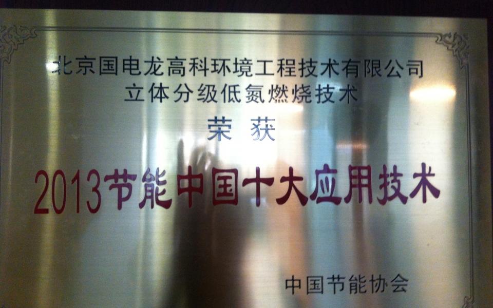 2013节能中国十大应用技术