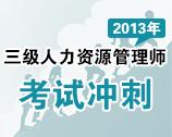 2013年三级人力资源管理师考试冲刺专题