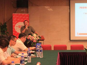 广东省电线电缆行业协会秘书长刘涛发言