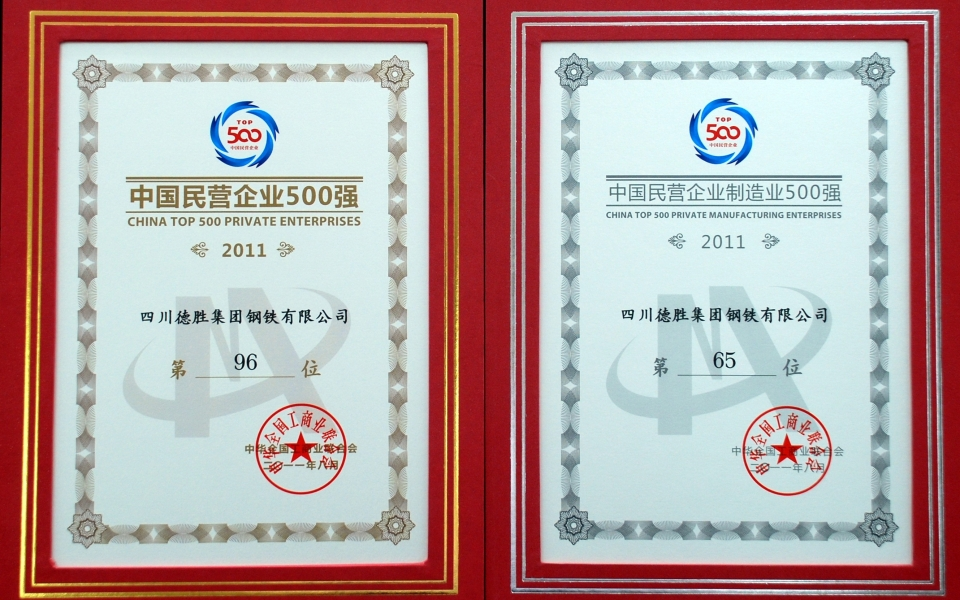 2011中国民营企业500强