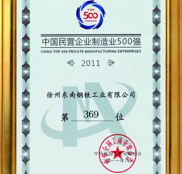 中国民营企业制造业500强