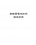 铅酸蓄电池知识培训手册